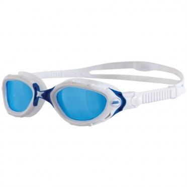Zoggs Predator Flex zwembril wit/blauw - blauwe lens