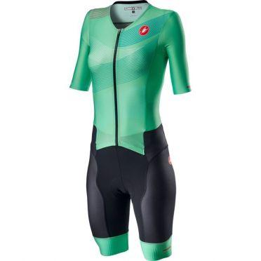 Castelli Free Sanremo 2 W trisuit korte mouwen groen dames