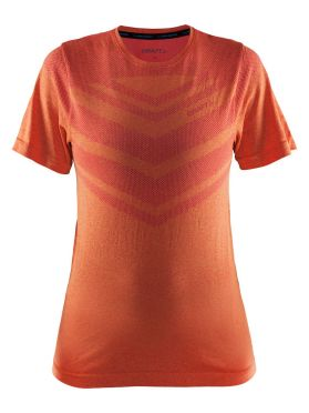 Craft Cool comfort korte mouw ondershirt oranje/push dames