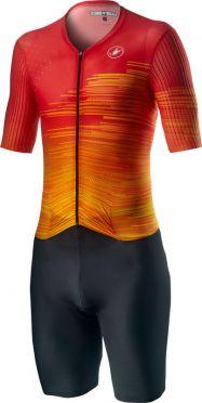 Castelli PR speed trisuit korte mouwen zwart/rood heren