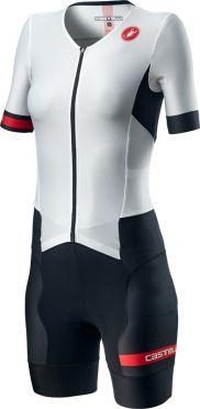 Castelli Free Sanremo 2 W trisuit korte mouwen wit/zwart dames