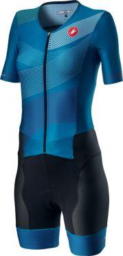 Castelli Free Sanremo 2 W trisuit korte mouwen zwart/blauw dames