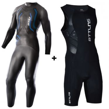 2XU A:1 wetsuit + GRATIS BTTLNS trisuit Sibyna 1.0