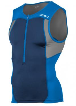 2XU Active Tri singlet blauw heren