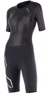 2XU Compression Full Zip Trisuit Sleeved zwart dames