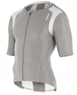 2XU Compression Sleeved Tri Top grijs/wit heren