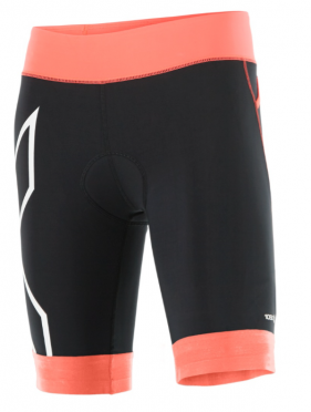 2XU Compression Tri short zwart/oranje dames