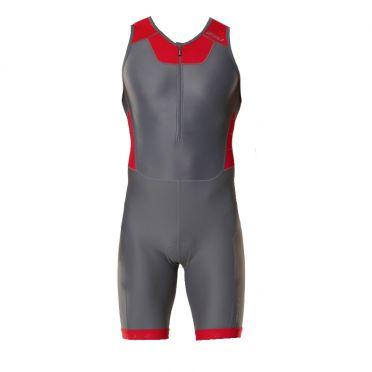 2XU Trisuit X-vent front zip grijs/rood heren