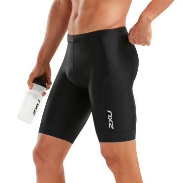 "2XU Perform 9"" tri shorts zwart heren"