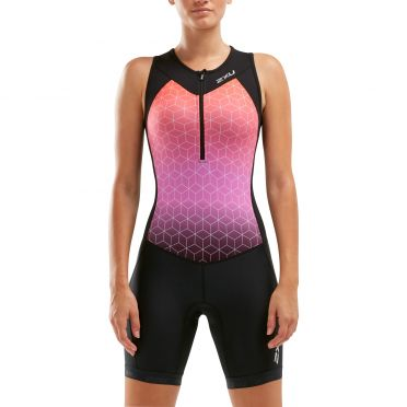 2XU Active mouwloos trisuit zwart/roze dames