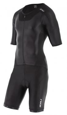 2XU X-vent sleeved full front zip trisuit zwart heren