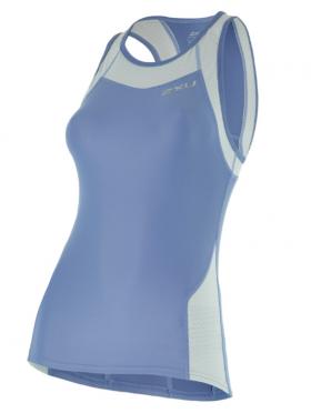2XU X-vent Tri Singlet blauw dames