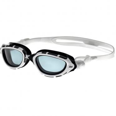 Zoggs Predator Flex zwembril wit/zwart - donkere lens