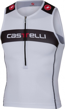 Castelli Core tri top wit/zwart heren
