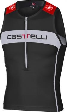 Castelli Core tri top zwart/wit/rood heren 14108-010