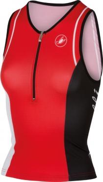 Castelli Core W tri singlet rood dames 14120-023
