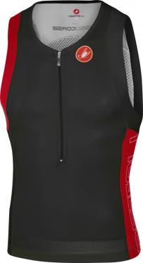 Castelli Free tri top heren zwart/rood 16069-231