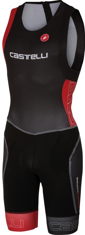 Castelli Free tri itu suit mouwloos heren zwart/rood 16072-231