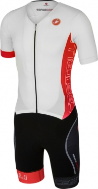 Castelli Free sanremo tri suit korte mouwen heren wit/rood 16073-123