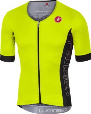 Castelli Free speed race jersey tri top geel/antraciet heren