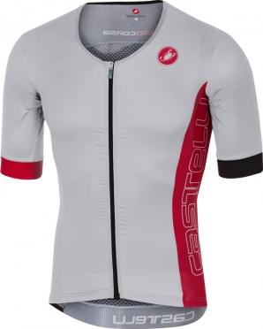 Castelli Free speed race jersey tri top wit/rood heren