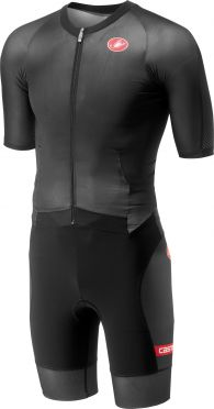 Castelli All out speed trisuit korte mouw zwart heren