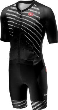 Castelli All out speed trisuit korte mouw zwart/zwart heren