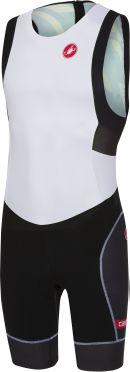 Castelli Free tri ITU suit rits achterzijde mouwloos wit/zwart heren
