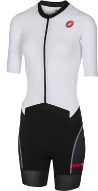 Castelli All out W speed trisuit korte mouw wit/zwart dames