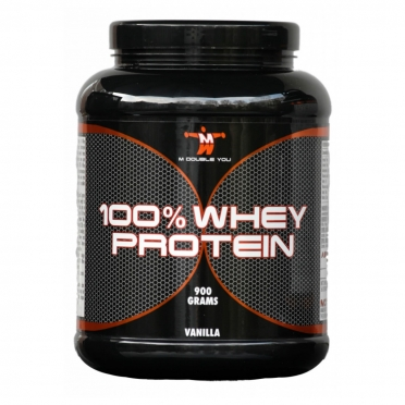 M Double You 100% Whey Protein 900 gram cookies & cream