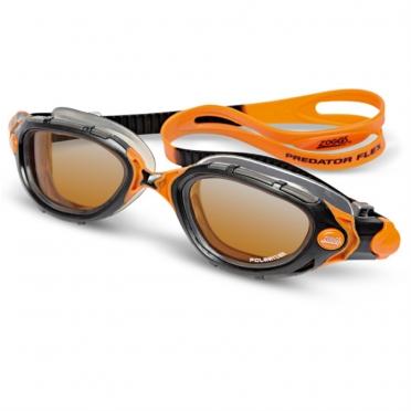 Zoggs Predator Flex zwembril zwart/oranje
