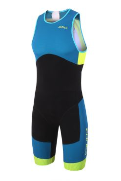Zone3 Aeroforce sub 220 mouwloos trisuit blauw/zwart heren