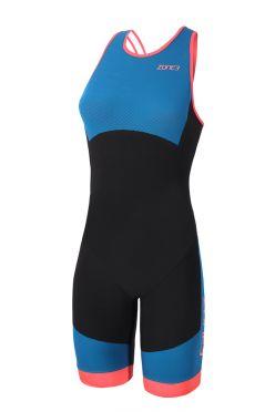 Zone3 Aeroforce swimback mouwloos trisuit blauw/zwart dames