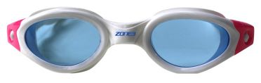 Zone3 Apollo getinte lens zwembril wit/roze