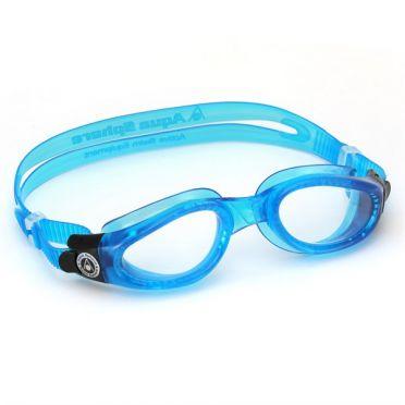 Aqua Sphere Kaiman transparante lens zwembril blauw
