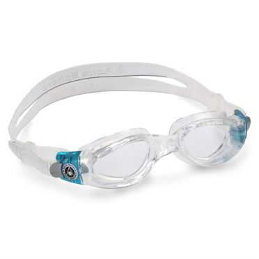 Aqua Sphere Kaiman transparante lens small fit zwembril aqua/wit