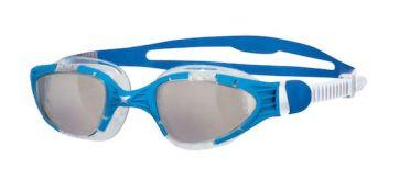 Zoggs Aqua flex transparante lens zwembril blauw/wit