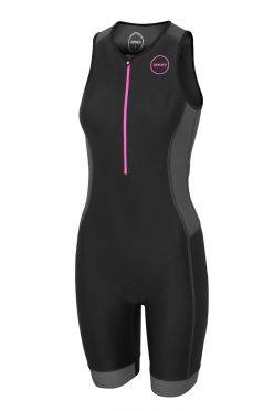 Zone3 Aquaflo plus mouwloos trisuit zwart dames