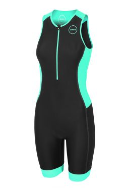 Zone3 Aquaflo plus mouwloos trisuit zwart/mint dames