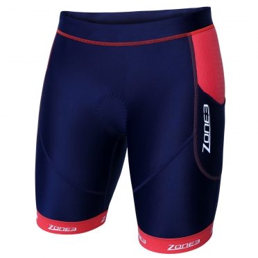 Zone3 Aquaflo plus tri short blauw/rood dames