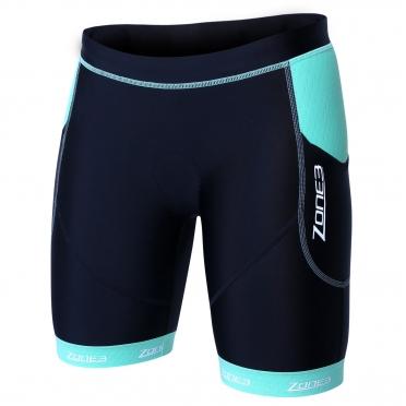 Zone3 Aquaflo plus tri short zwart/mint groen dames