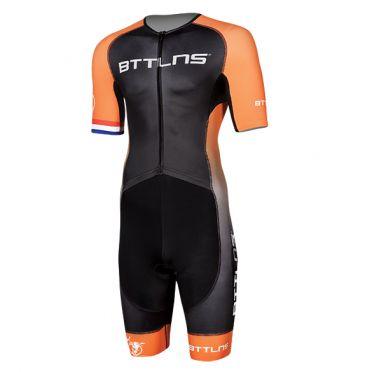 BTTLNS Typhon 2.0 trisuit korte mouwen zwart/oranje heren