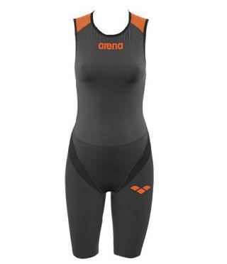 Arena Carbon pro front zip mouwloos trisuit zwart dames