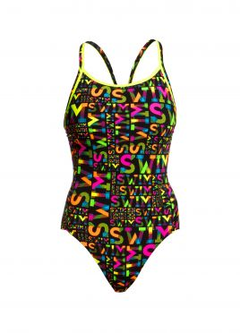 Funkita Night swim diamond back badpak dames