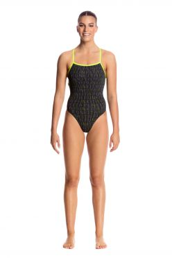 Funkita Binary babe strapped in badpak dames