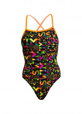 Funkita Night swim strapped in badpak dames