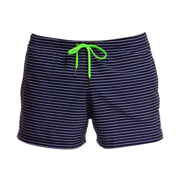 Funky Trunks White stripes Shorty shorts zwembroek heren