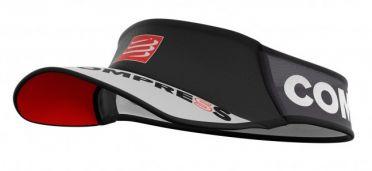 Compressport Ultralight hardloop visor zwart