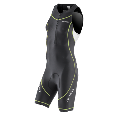 Orca Core basic race trisuit zwart/wit/geel heren
