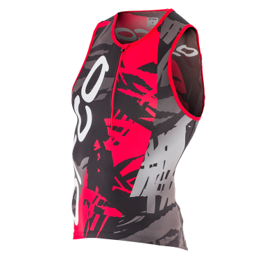 Orca 226 Tri tank top mouwloos rood heren